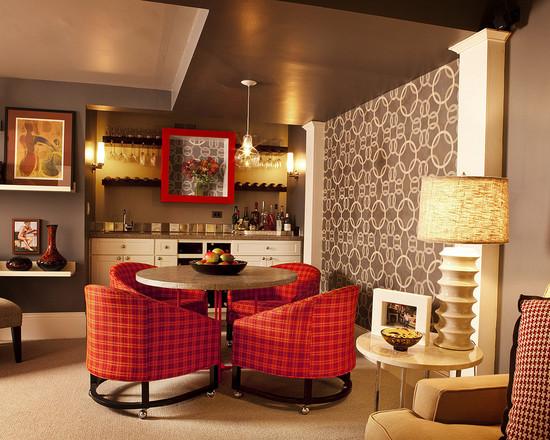 eclectic basement retreat remodel