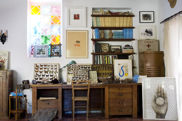 eclectic-home-office-wooden
