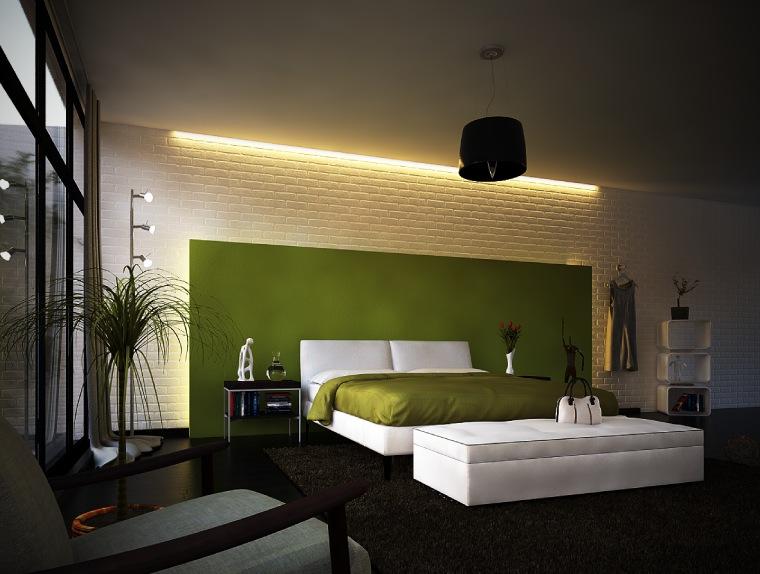 modern-bedroom-green-colors-cool-ideas-on-bedroom-design-ideas