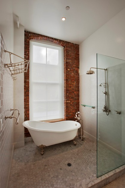 Absolutely Gorgeous Bathroom Design Ideas With Brick Walls