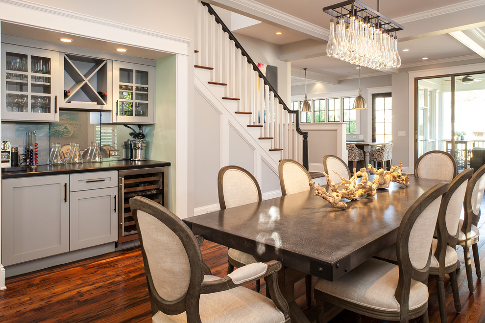 Bar-Height-Dining-Table-Chairs-Dining-Room-Craftsman-with-Art-bar