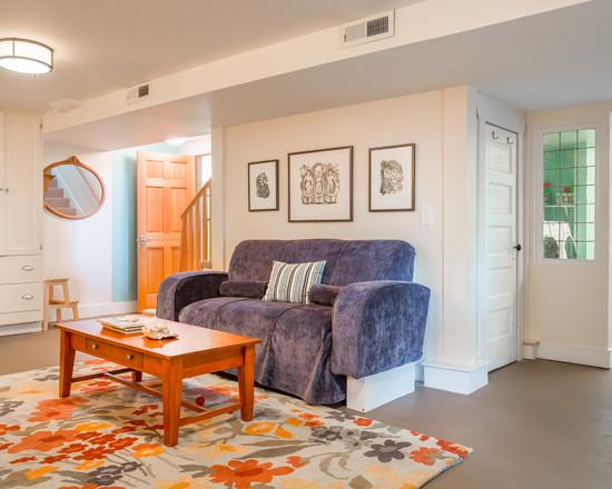 Beach Style Basement Homes Design