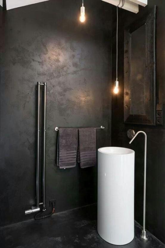 Black-Indsutrial-Bathroom