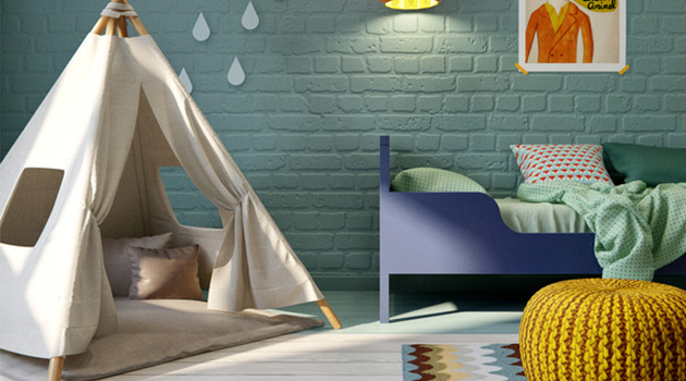 Colorful-Mid-Century-Kids-Room-Designs