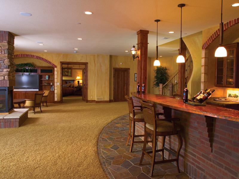 Craftsman House Plan Basement Photo