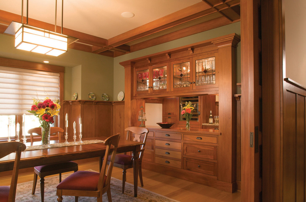 Delightful-Arts-And-Crafts-home-interior-design-Craftsman-Dining-Room-Los-Angeles