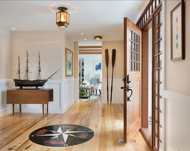 Entryway.-Coastal-Entryway-Ideas.-This-is-a-very-original-coastal-entryway-with-an-antique-ship-model-and-.savage-ship-lights