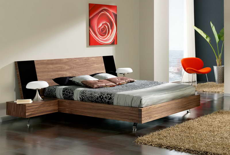 Floating-Platform-Beds-With-Orange-Seats