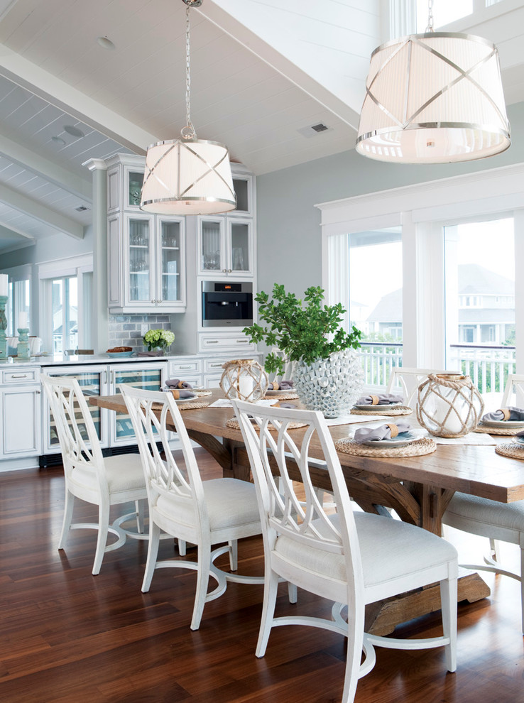 Graceful-Silver-Sage-Paint-home-interior-design-Beach-Style-Dining-Room