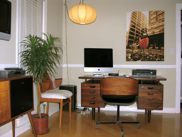 Home-office-Mid-Century-Styling