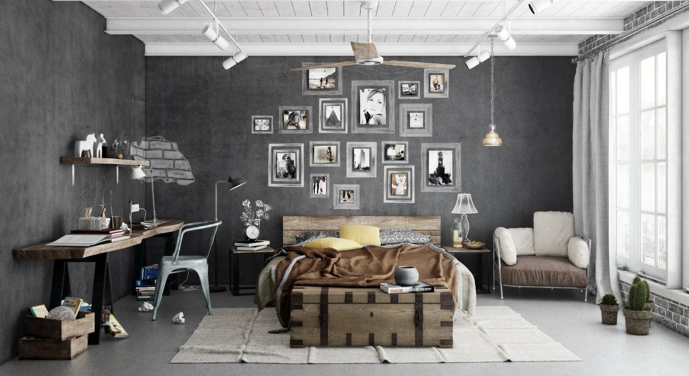 Industrial-bedroom-scheme