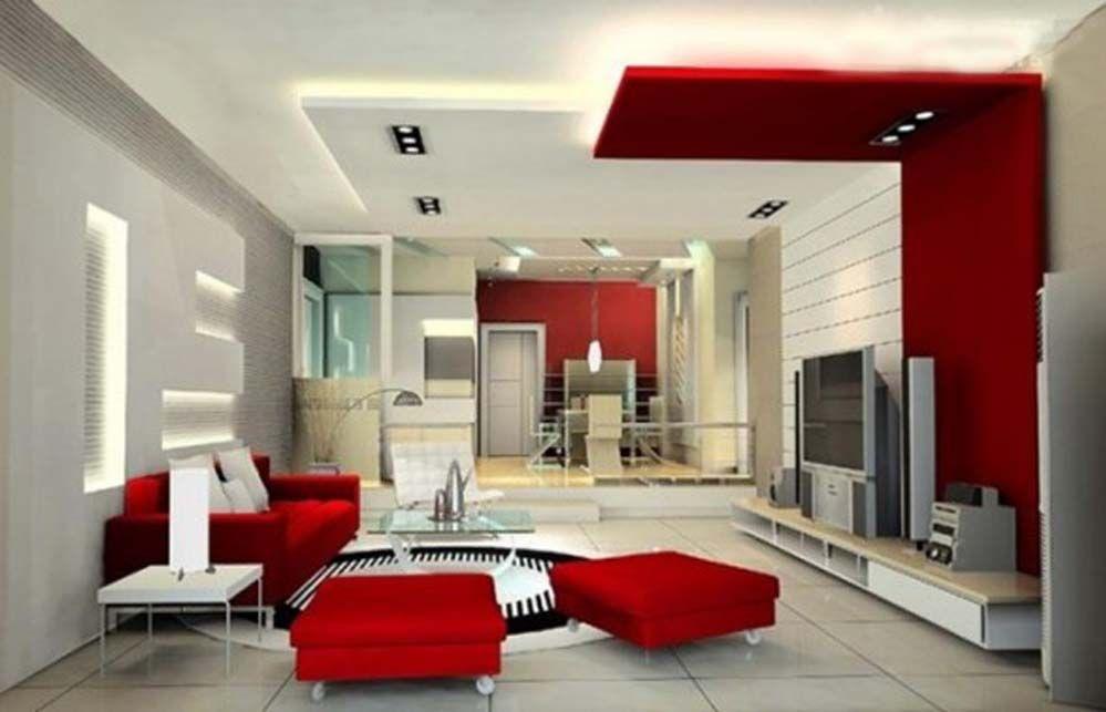 Living Room Modern Ceiling Design Decor Ideas