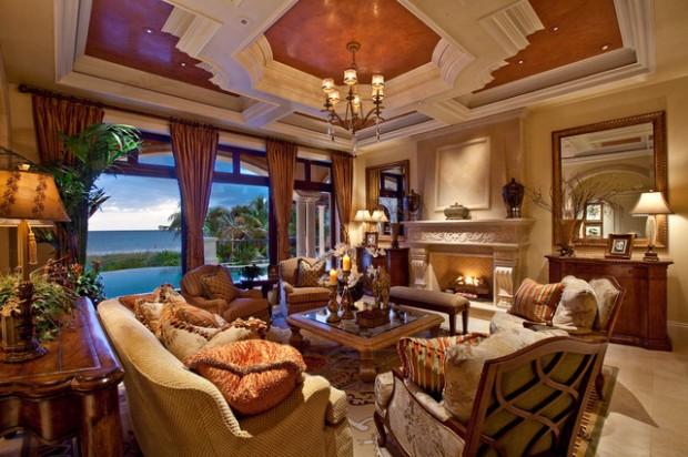 Mediterranean-living Room-