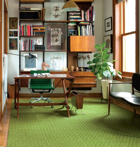 Midcentury modern Home Office Design ideas