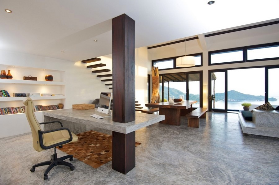 Modern-Home-Office-Design-Floor-Plans-for-Beach-House-Design-with-Stair-Decoration-Ideas