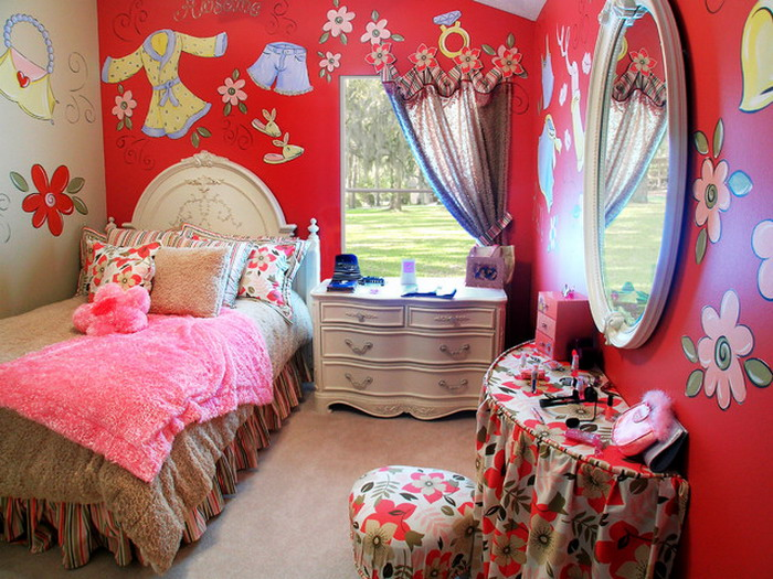 Modern-Kids-Bedroom-with-Colorful-Wall-Design