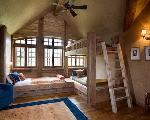 Rustic-Kids Bedroom-Design-