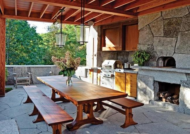 Rustic-Outdoor-Kitchen-Design-With-Stone-Floors