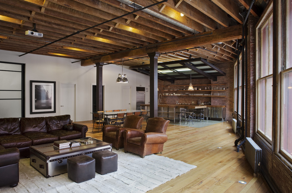 Spectacular-Ceiling-Joist-Spacing-Decorating-Ideas-Gallery-in-Family-Room-Industrial-design-ideas-