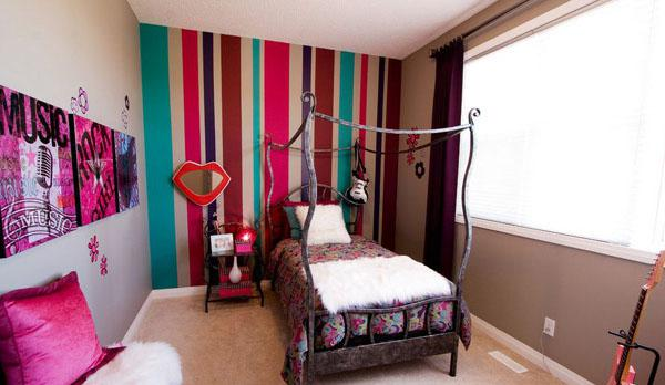 The-Assorted-Color-Bed-Of-Stylish-Teenage-Girls-Bedroom-Ideas