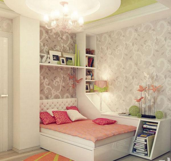 The-Pink-Cushion-Of-Stylish-Teenage-Girls-Bedroom-Ideas