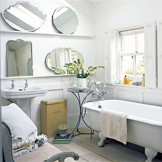 White farmhouse bathroom