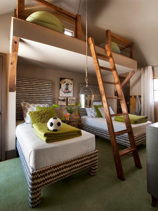 big-bunk-beds-mid centuary-bedroom-ideas
