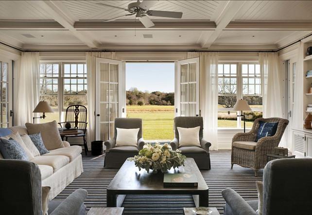 classic Hamptons style beach house decor