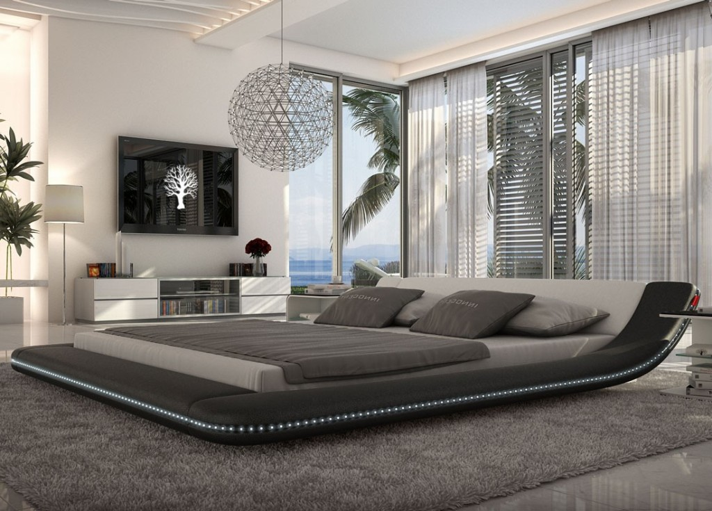 custo_led_black_platform bed