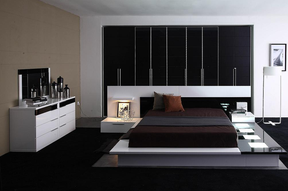 dark platform bedroom