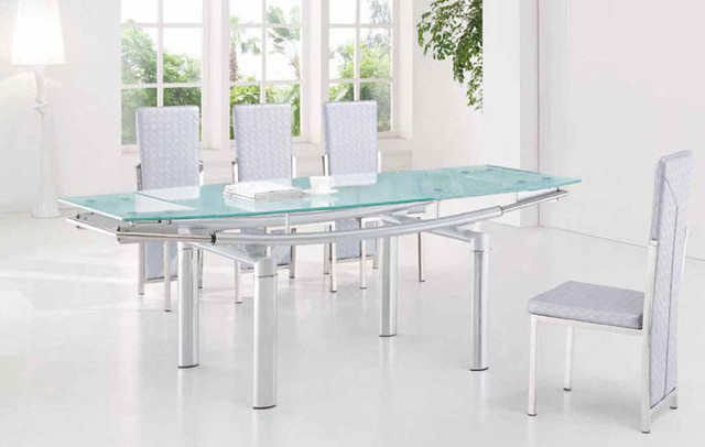 extendable-frosted-glass-top-leather-dining-furniture-set-dining-tables