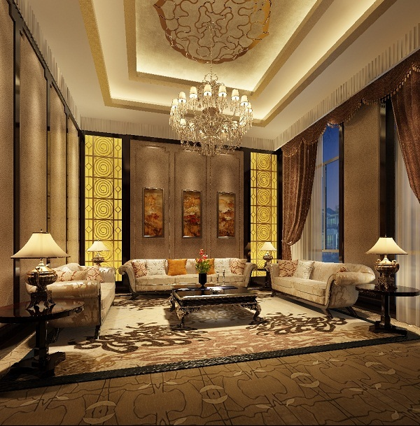 high-ceiling-living-room-pictures