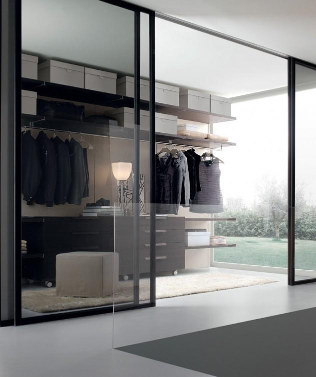 luxury-torchiere-lighting-in-inspiring-masculine-closet-design-with-fancy-sliding-glass-door-633x755