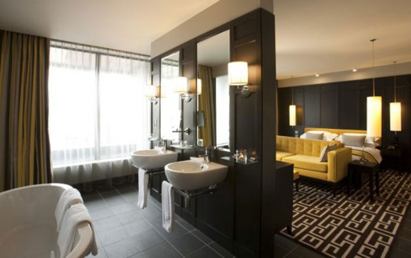 open bedroom-bathroom-design-
