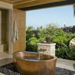 25 Beach Style Open Bathroom Design Ideas