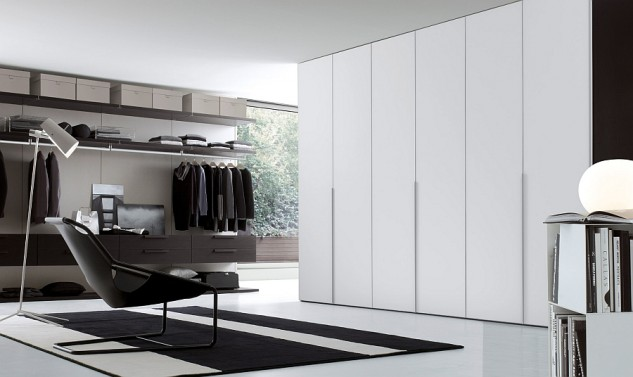 smart-spacious-closet-design-with-charming-bookshelves-for-globe-table-lamp-faced-off-eclectic-seating-633x377