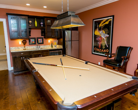 transitional-basement-with-pool