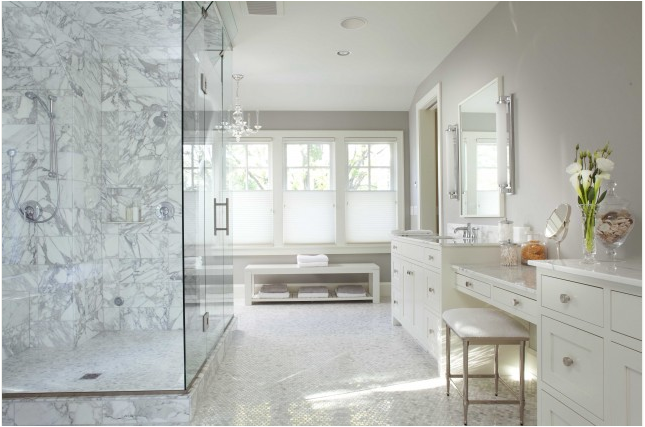 transitional bathroom designs{