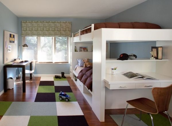 A-combination-of-bunk-and-loft-bed-designs