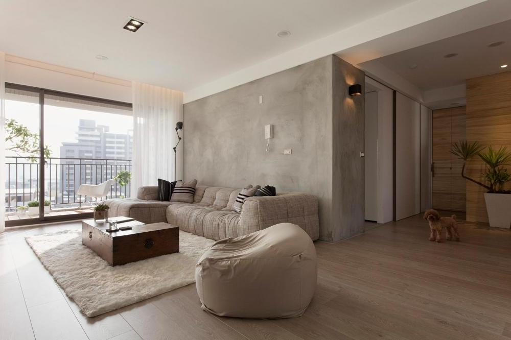 Concrete-feature-wall-living-room