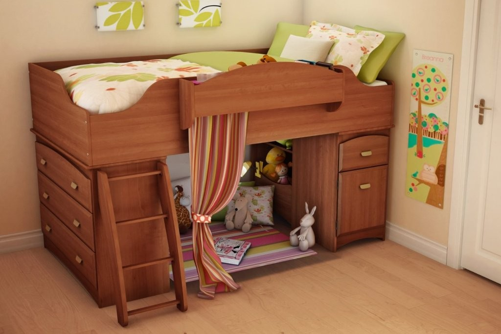 Elegant-wooden-pottery-barn-kids-loft-bed-design-with-dresser-and-drawer-underneath-also-lounge-area-enclosed-by-curtain-winsome-pottery-barn-kids-loft-bed-modern-designs