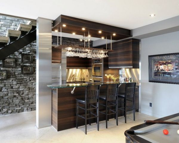 Simple-home-bar-design-placed-under-the-staircase