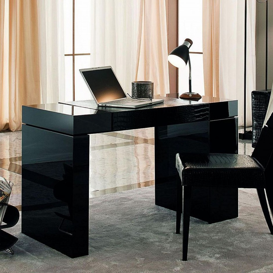 black-concept-home-office-desk-with-cool-desk-lamp-for-work