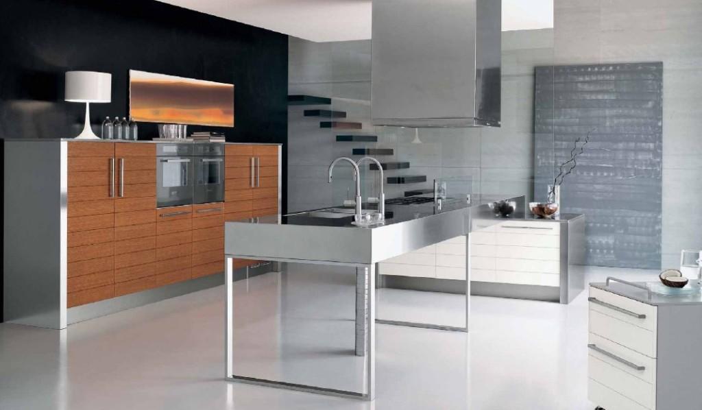 gas-with-kitchen-island-modern-stainless-steel