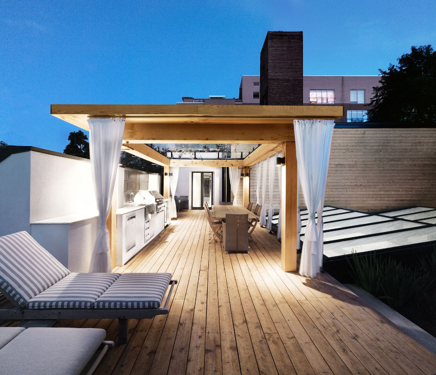 rooftop-deck-modern-house-design-with-kitchen-ideas-plus-white-cabinet