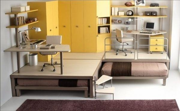 space-saving-kids-room-slide-beds