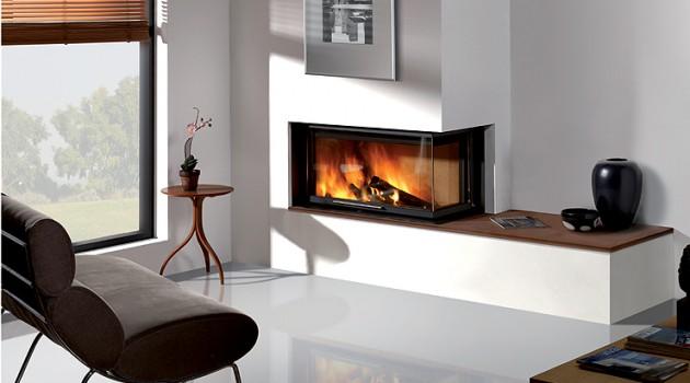 ultra modern fire place