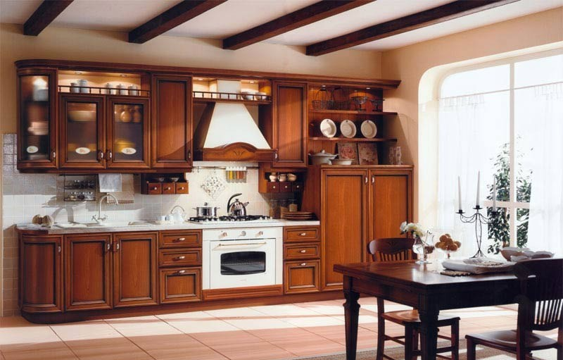 white-wall-and-dark-wood-kitchen-design-with-drawers