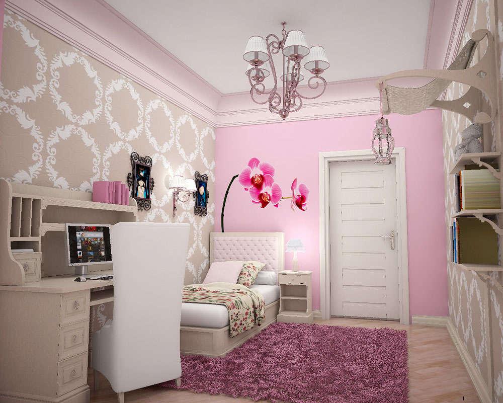 Amazing-victorian-wallpaper-orchid-flower-wall-sticker-