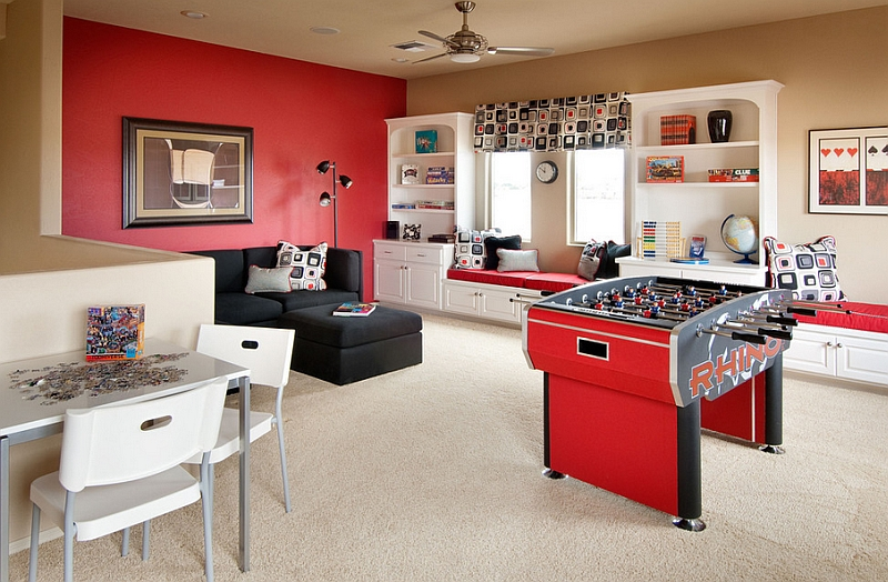 Contemporary-attic-game-room-idea